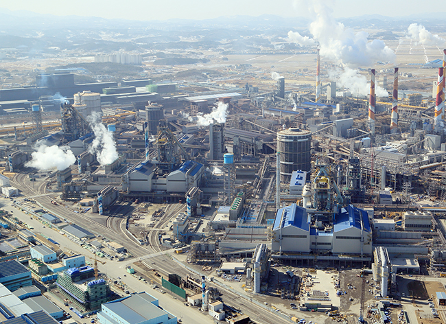 Seul'deki Hyundai Çelik Üretim Tesileri