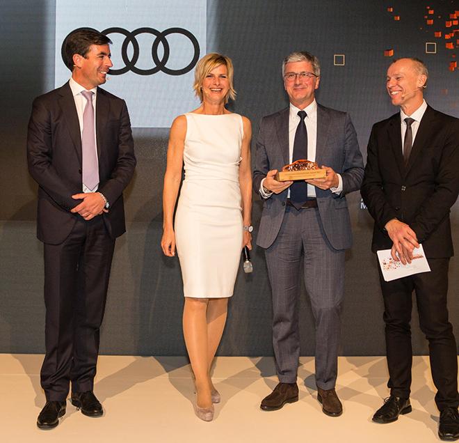 Prof. Rupert Stadler,  Prof. Dr. Stefan Bratzel,  Barbara Hahlweg, Felix Kuhnert